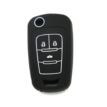 Best Quality for Chevrolet Silicone Key Case Special design embossed Chevrolet remote keycase shell supply to United States Exporter