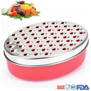 premium stainless steel grater with bowl