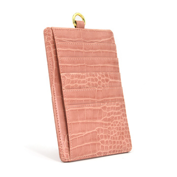Multifunction Cards Slots Slim Crocodile Leather Card Holder