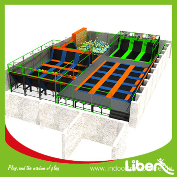 indoor customized trampoline park for adult