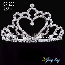 Rhinestone Heart Crowns Wedding Tiaras