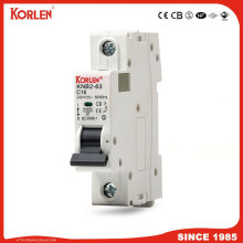 KORLEN patented mini circuit breaker 10KA MCB with CE SEMKO CB SIRIM IEC/EN60898