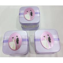 Purple sweet Wedding Tin Box