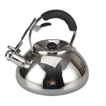 Stainless Steel Silver Mirror Polishing Tea Pot