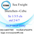 Shenzhen Port Sea Freight Shipping To Cebu