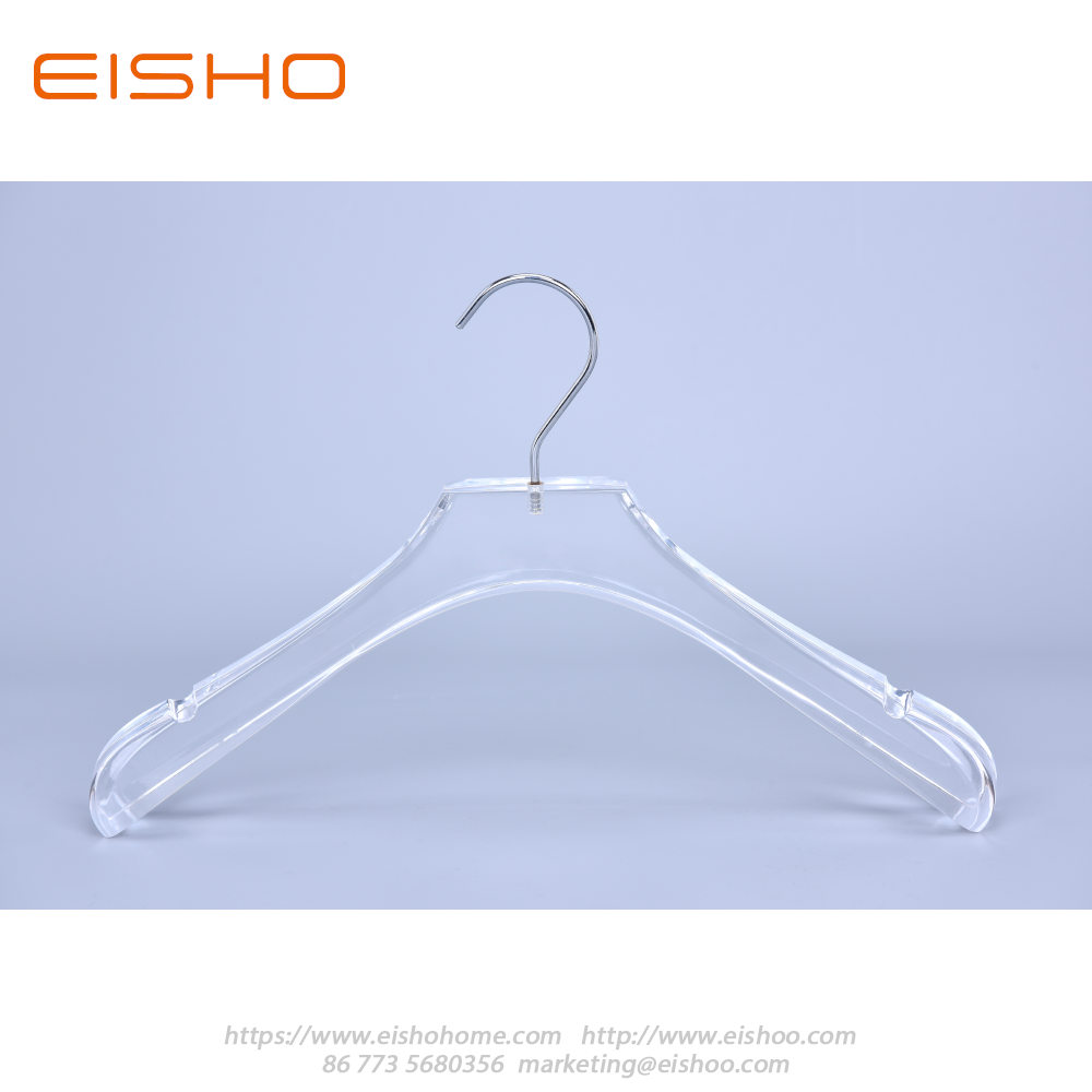 9 Transparent Acrylic Suits Hanger With Bar