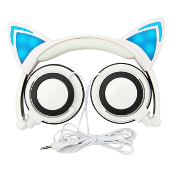 Fashionable oem available luminous cat headphone
