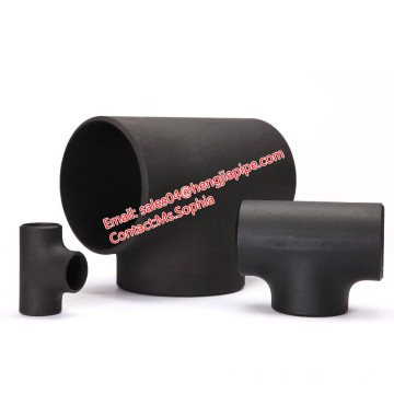 ASME B16.9 Mild steel pipe fittings reducing tee