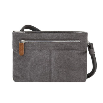 Anti-Theft Cotton Canvas Small Crossbody Bag for Women
