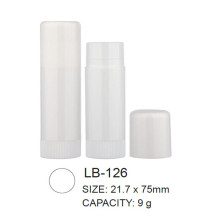 Round Empty Plastic Lip Balm Packaging