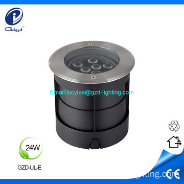 24W waterproof 304 stainless surface led underground light