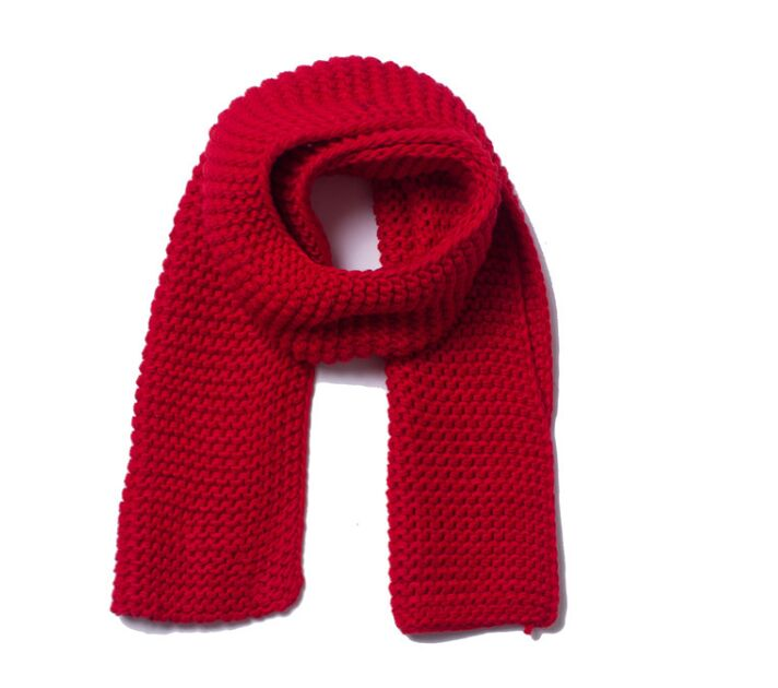 Three Guage Knitting Scarf Red