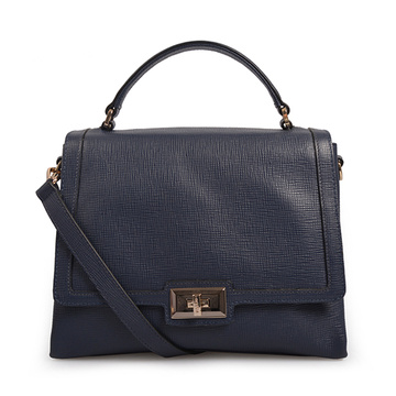 Mercer Large Pebbled Leather Belted Satchel Tote Bags