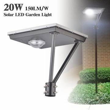 20W post top led solar luz 5000K