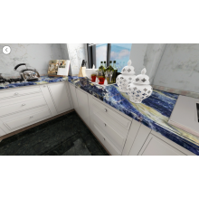 Big blue sodalite countertop