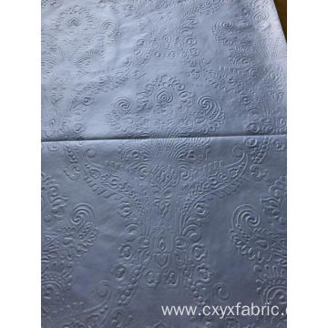 Polyester white 3d emboss microfiber fabric
