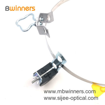 FTTH Fittings Hot-DIP Galvanized Steel Pole Clamp