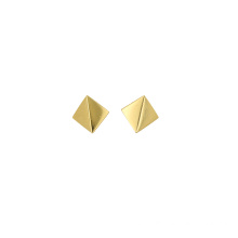 Factory directly for High Polished Gold Earring Minimalist Square Shaped Stud Earring export to Algeria Suppliers