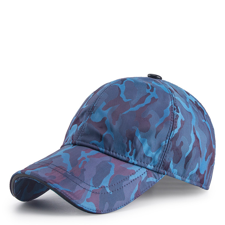 2018 Custom Adjustable Blue Camouflage Baseball Cap