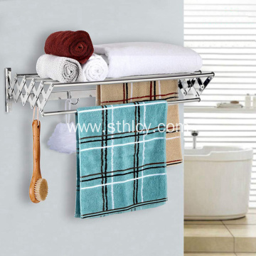 Wall Mounted Retractable Stainless Steel Towel Rack
