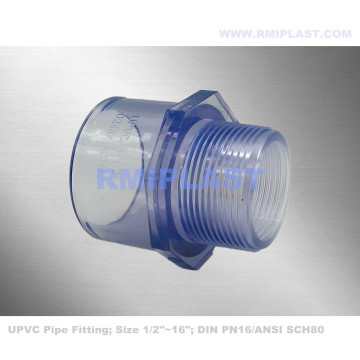 Clear PVC Male Adapter ANSI