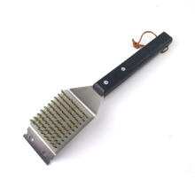High quality barbecue cleaning brush with wooden handle