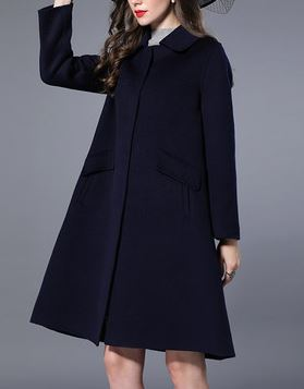 Women's Cashmere Knee Length Overcoat