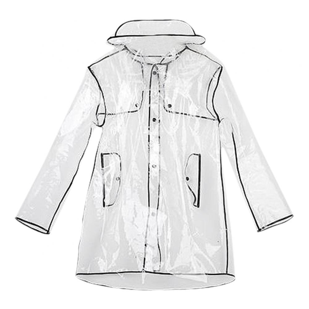Trendy EVA Clear Raincoat for Ladies