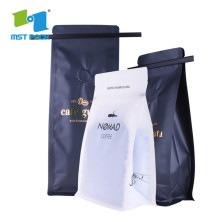 side gusset foil paper coffee bean bag with Valve and zip