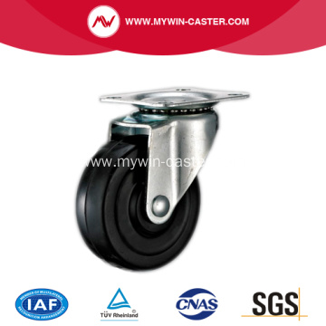 1'' Swivel Black Rubber Light Duty Industrial Caster