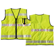 Traffic warning vest with LED