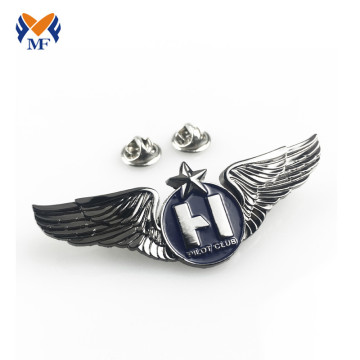 Flying pilot wing shape lapel pin badge
