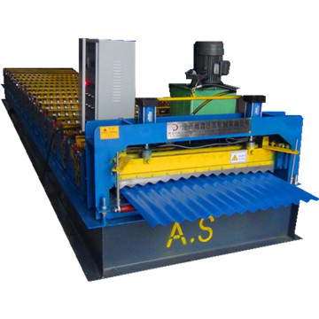 Colorful single layer metal sheet roll forming machine
