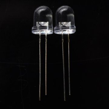 10mm Blinking RGB LED Lamp Clear Lens