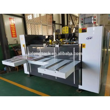 Corrugated carton box stitcher machine