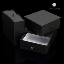 Hot sale customized matte black slider box