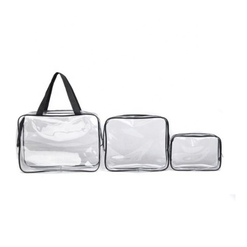 3 Pieces Set Clear PVC Waterproof Packaging Makeup Organizer Cosmetic Bag