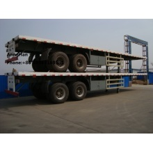 Flat-bed Semi Trailer Truck 3 Axles