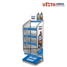 4 Shelf Lubricating Oil Metal Display Stand Rack