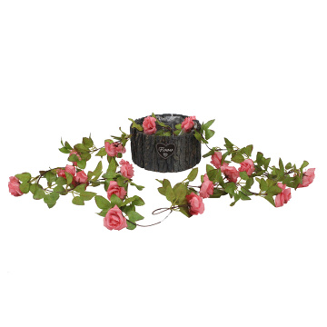 Artificial  flowers rose decorations vines leave