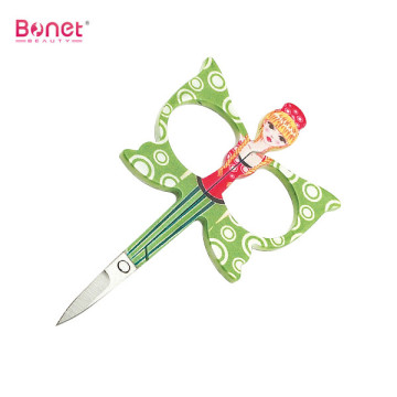 Butterfly handle shape embroidery manicure cuticle scissors