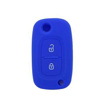 Silicon folding 2 buttons key case for benz