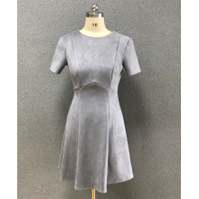 women's grey suede dress