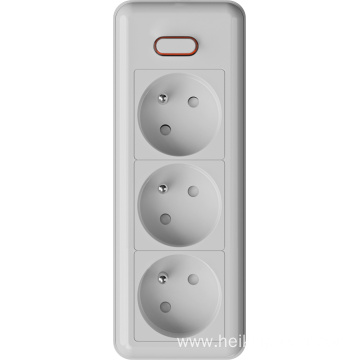 3 ways French extension sockets
