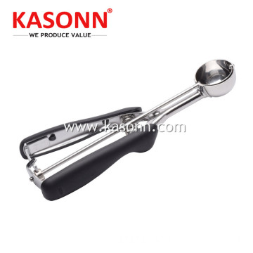 Stainless Steel Ice Cream Scoop dengan Pemegang Anti-slip