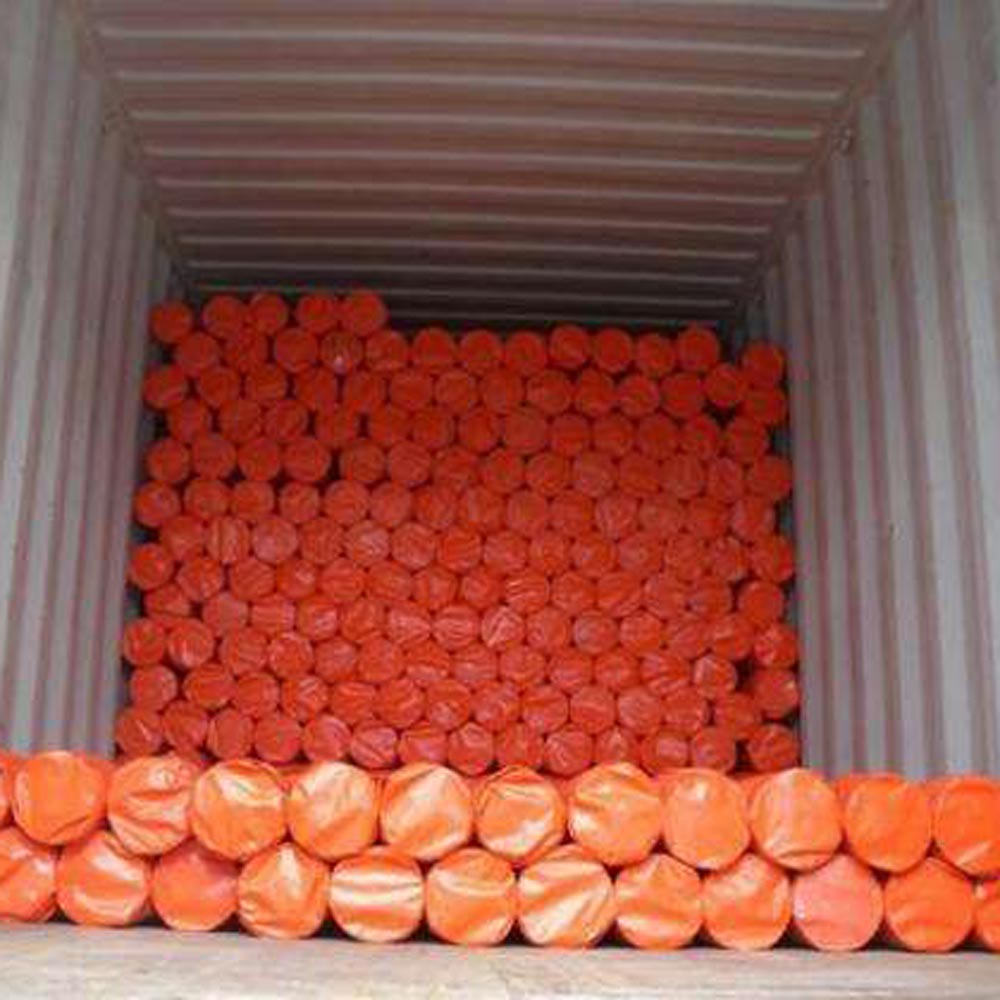 Orange Tarpaulin Fabric Roll Goods