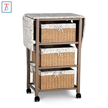 Wooden Storage Cabinet With Ironing Board