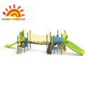 Long Outdoor Playground With Bridge Equipment For Children