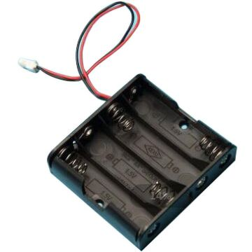 PC Connector Battery Holder for 4 AA