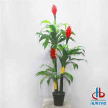 Artificial Red Ginger Potted Plant